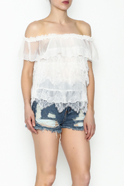 Lulumari Baby Doll Lace Top - Front cropped