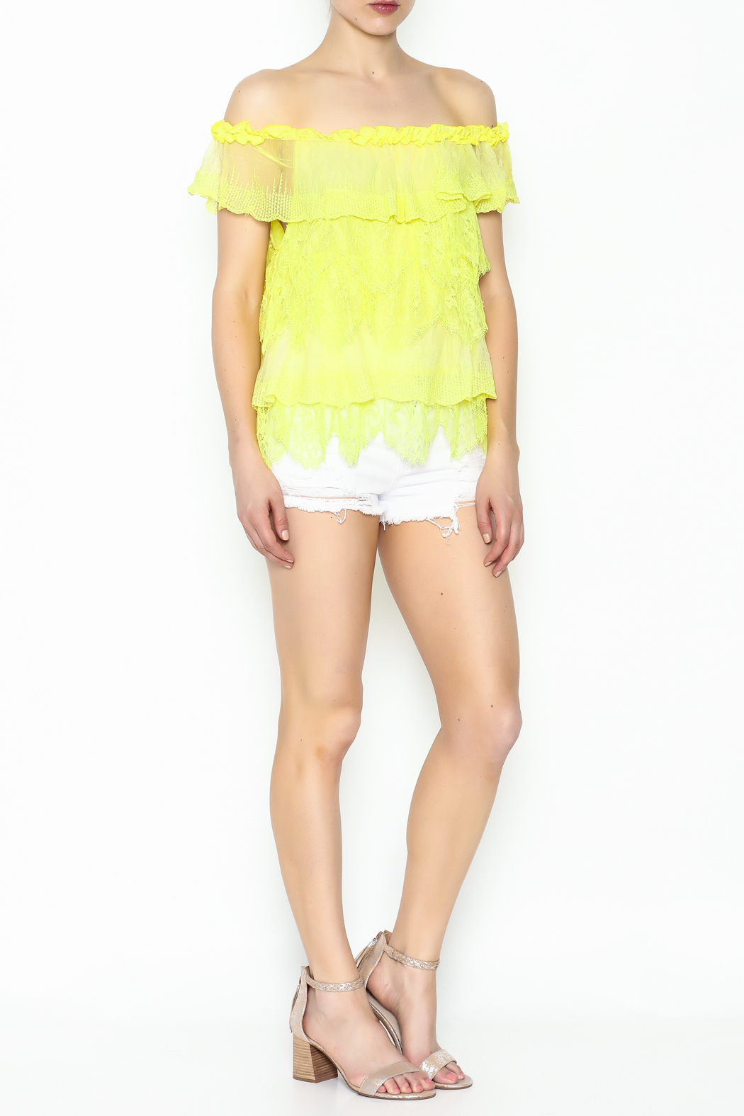 Lulumari Baby Doll Lace Top - Side Cropped Image