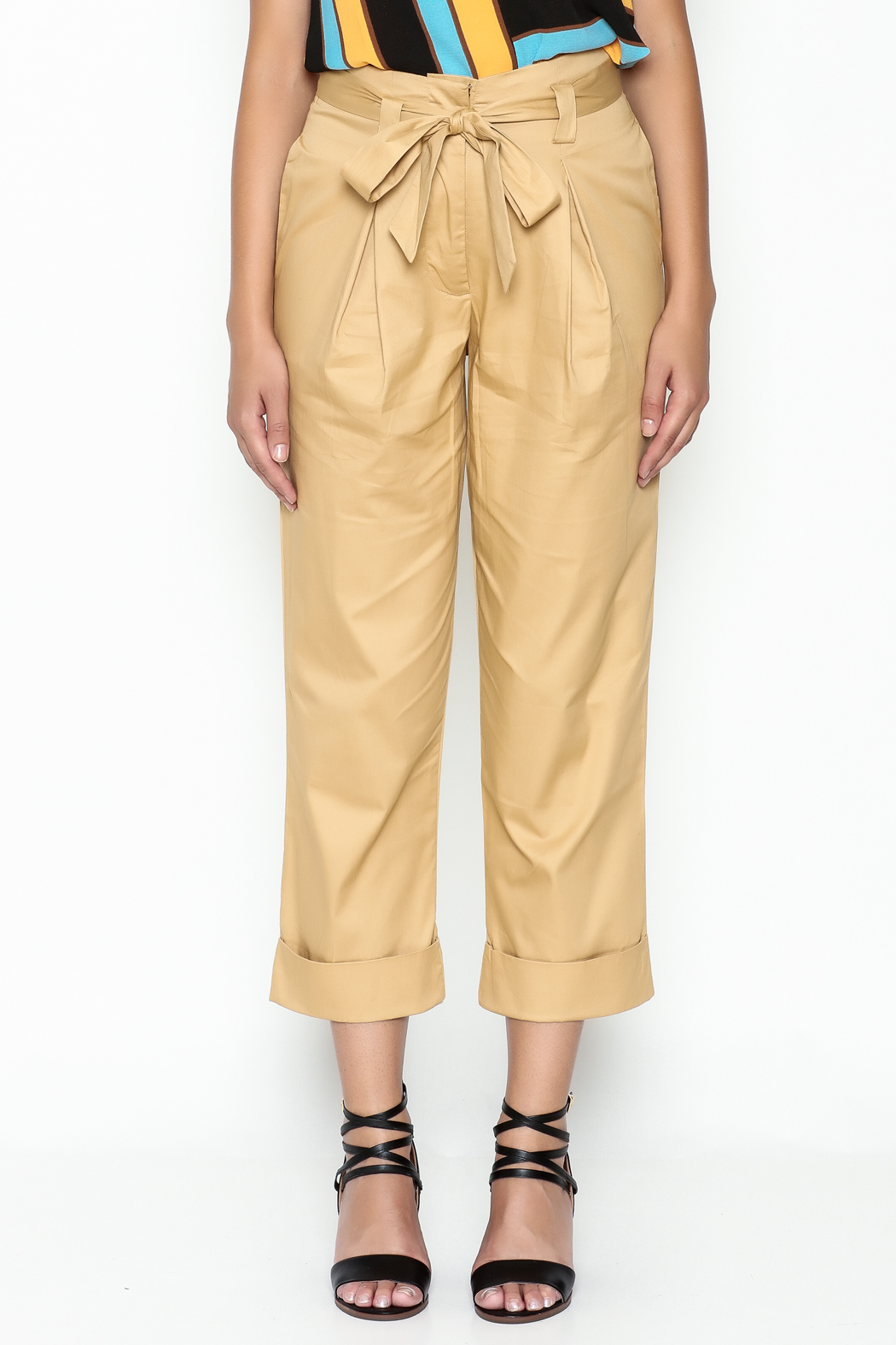 Lulumari Belted Trousers - Front Full Image