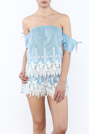 Shoptiques Product: Blue Embroidered Top