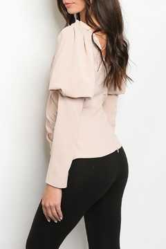 Lulumari Champagne Puff-Sleeve Top - Alternate List Image