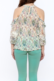 Shoptiques Product: Loose Printed Blouse - Back cropped