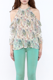 Shoptiques Product: Loose Printed Blouse - Side cropped