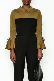 Lulumari Contrast Shirt Jumpsuit - Side cropped