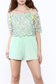 Lulumari Mint Crochet Romper - Product Mini Image