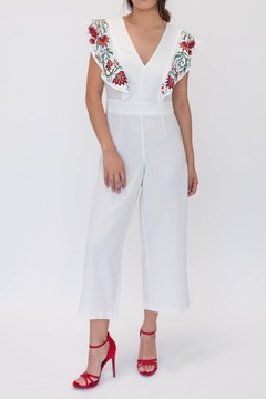 Lulumari Embroidered Jumpsuit - Product List Image