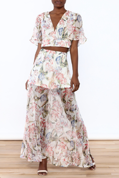 Shoptiques Product: Floral Maxi Skirt Set