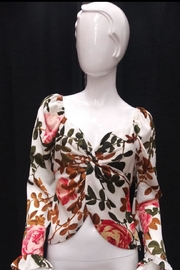Lulumari Floral Twist Top - Product Mini Image