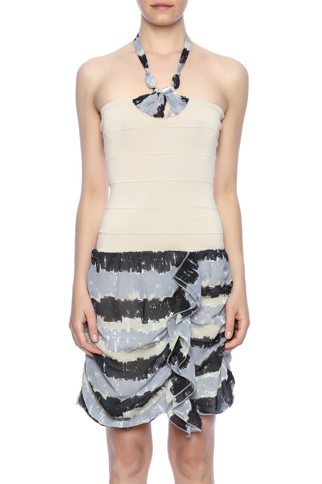 Lulumari Halter dress - Side Cropped Image