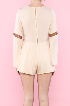 Shoptiques Product: Nude Long Sleeve Romper
