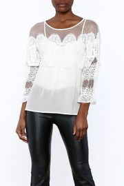 Lulumari Mesh Crochet Blouse - Product Mini Image