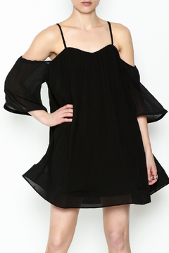 Lulumari Pleated Black Dress - Product List Image