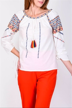 Shoptiques Product: Romanian Embroidered Top