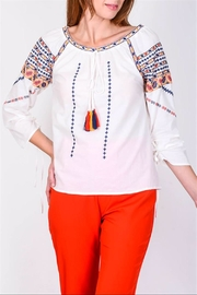 Lulumari Romanian Embroidered Top - Product Mini Image