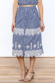 Lulumari Stripe Midi Skirt - Product Mini Image