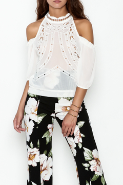 Lulumari Lace Cold Shoulder Top - Product List Image