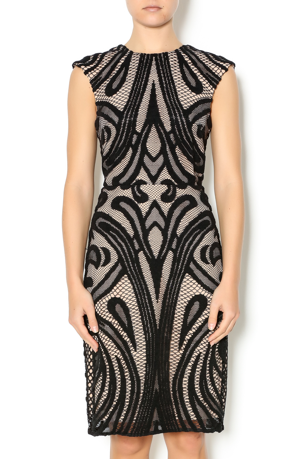 Lumiere Black Lace Dress - Main Image