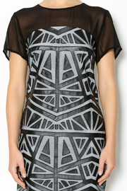 Lumiere Black White Midi Dress - Other