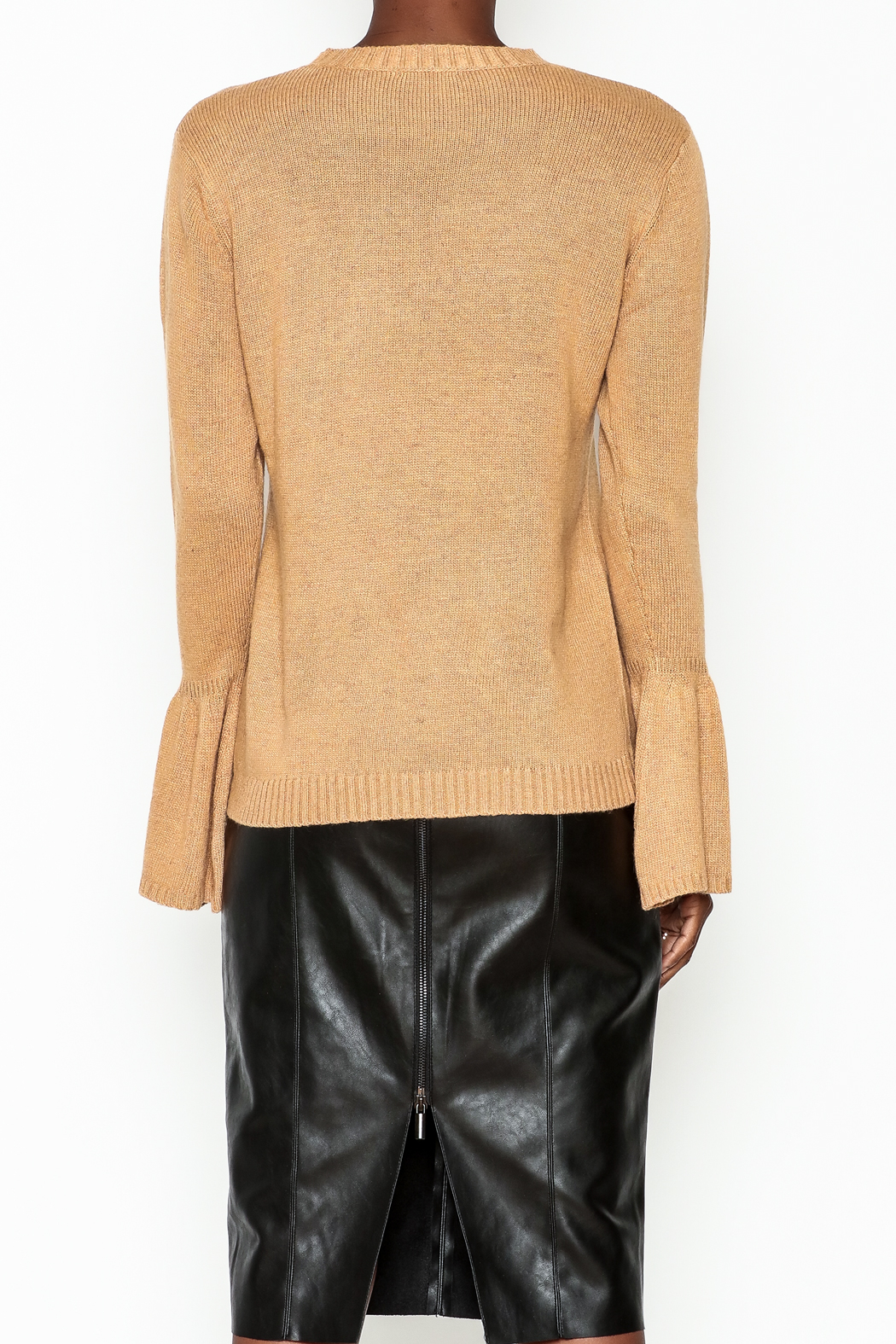 Lumiere Bell Sleeve Sweater - Back Cropped Image