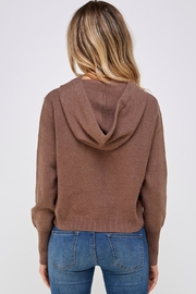 Lumiere Brown Drawstring Hoodie - Side cropped