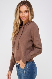 Lumiere Brown Drawstring Hoodie - Product Mini Image