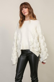 Lumiere Bubble Sleeve Sweater - Front full body