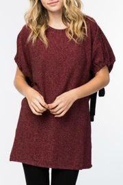 Lumiere Burgundy Knit Tunic - Product Mini Image