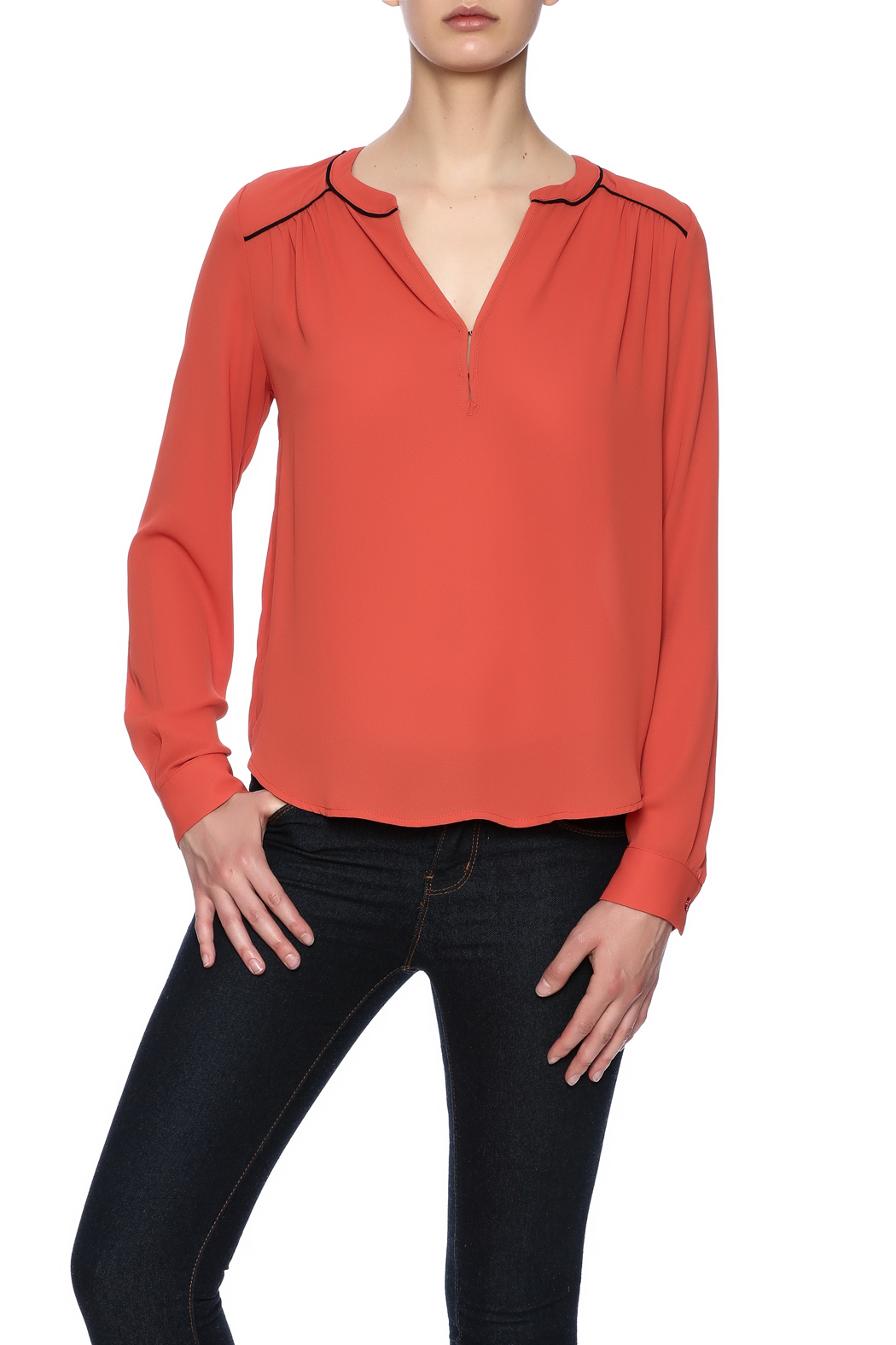 0fc6a3b2394d9 Lumiere Burnt Orange Blouse From North S By Marilisa Fashion