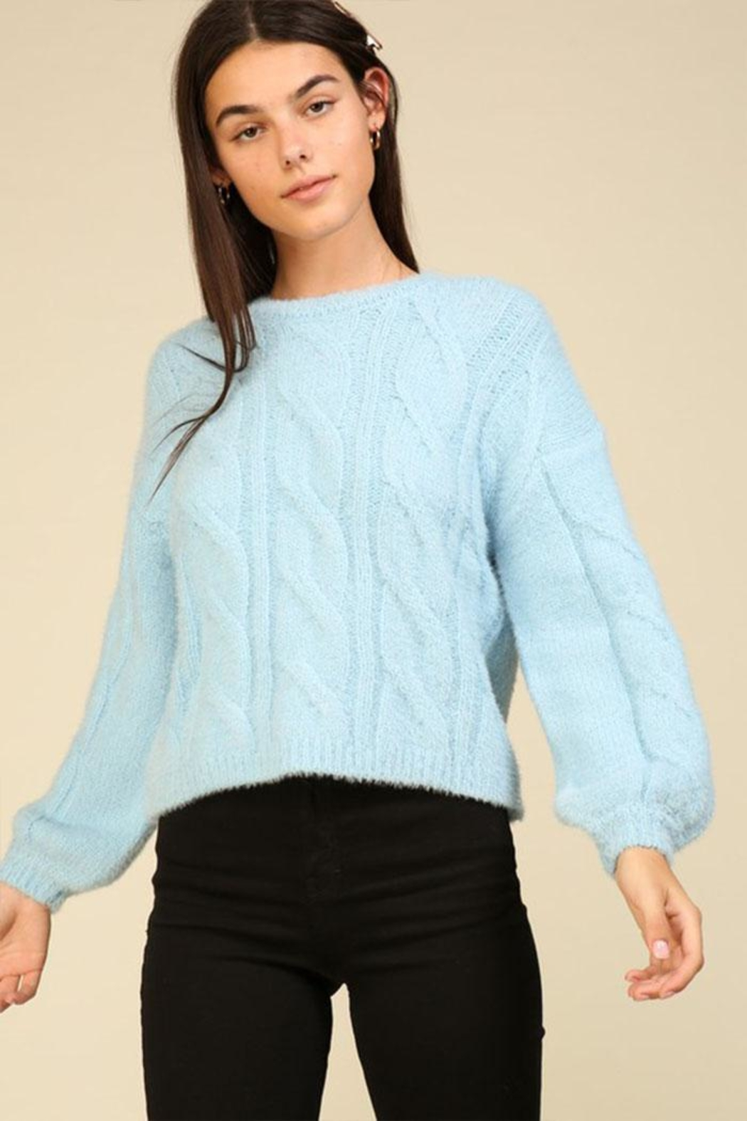 Lumiere Cable Knit Sweater - Main Image