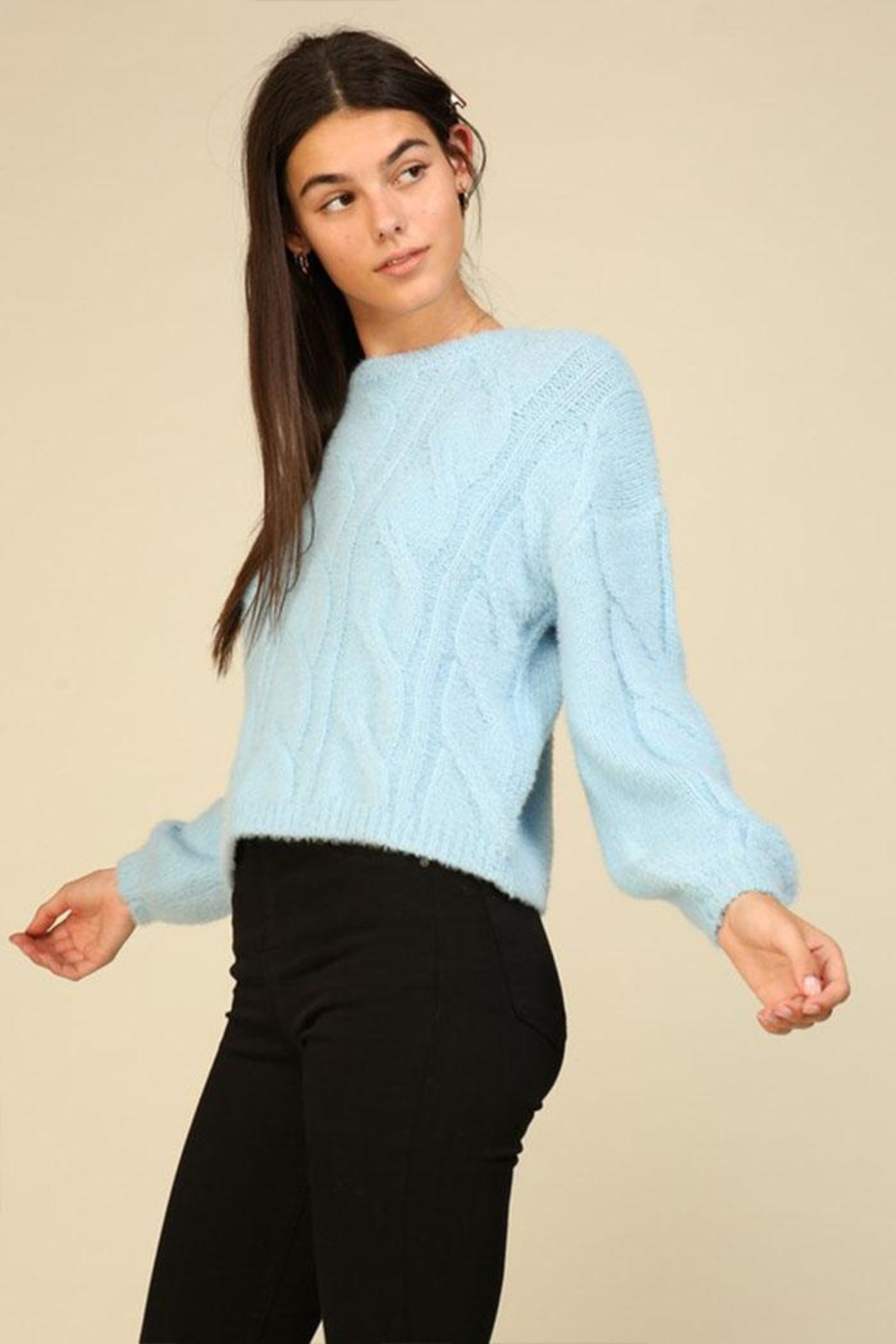Lumiere Cable Knit Sweater - Front Full Image