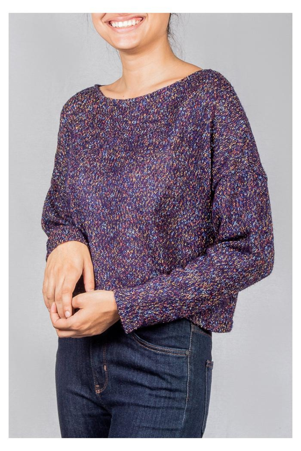 Lumiere Coloful Knit Sweater - Front Full Image