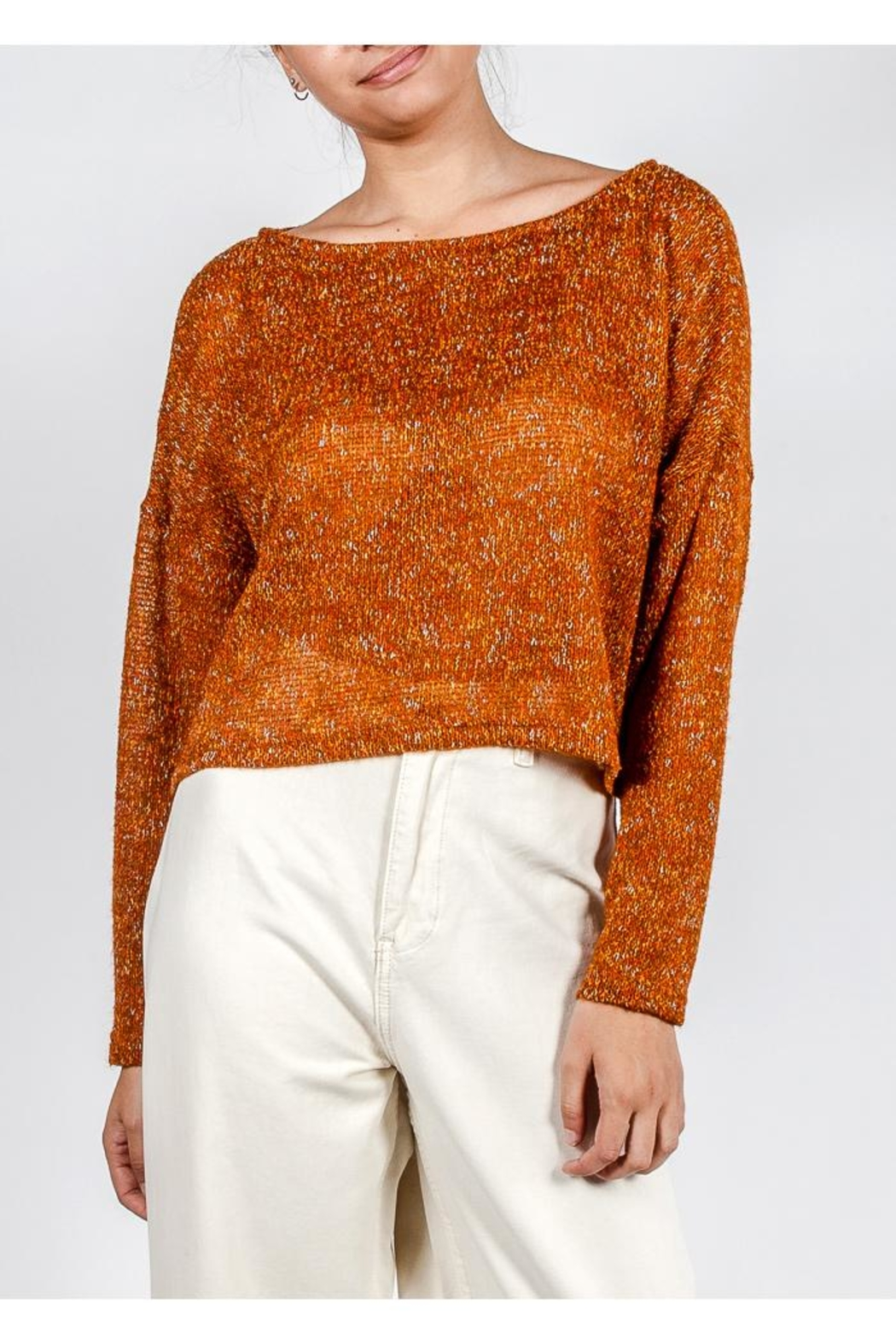 Lumiere Coloful Knit Sweater - Front Cropped Image
