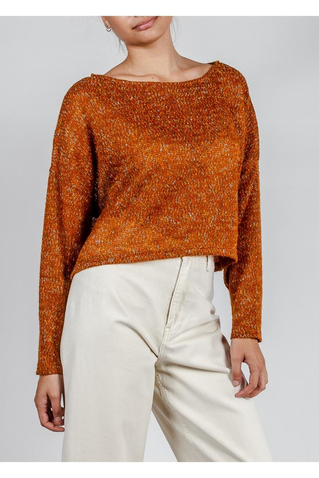 Lumiere Coloful Knit Sweater - Side Cropped Image