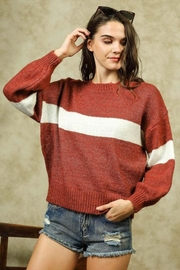 Lumiere Colorblock Crewneck Sweater - Front full body