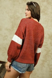 Lumiere Colorblock Crewneck Sweater - Side cropped