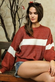 Lumiere Colorblock Crewneck Sweater - Product Mini Image
