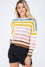 Lumiere Colorful Striped Sweater - Product Mini Image