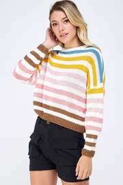 Lumiere Colorful Striped Sweater - Side cropped