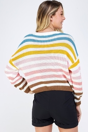 Lumiere Colorful Striped Sweater - Back cropped