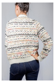 Lumiere Colorful Weave Sweater - Back cropped