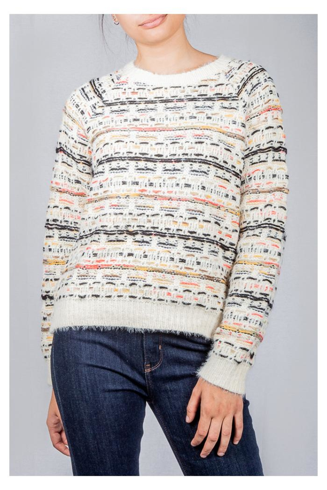 Lumiere Colorful Weave Sweater - Main Image