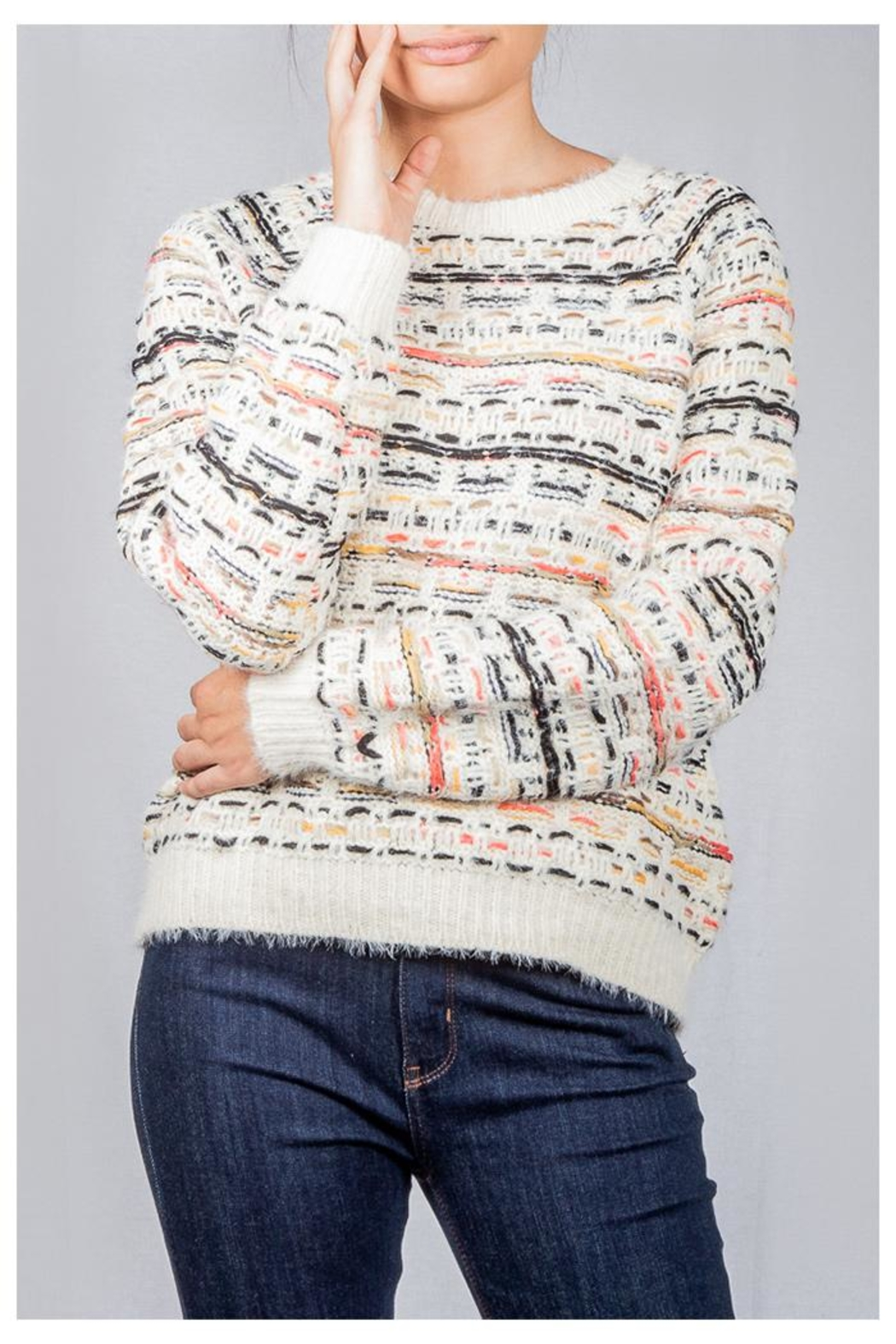 Lumiere Colorful Weave Sweater - Front Full Image