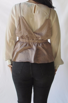 Lumiere Contrast Layered Blouse - Alternate List Image
