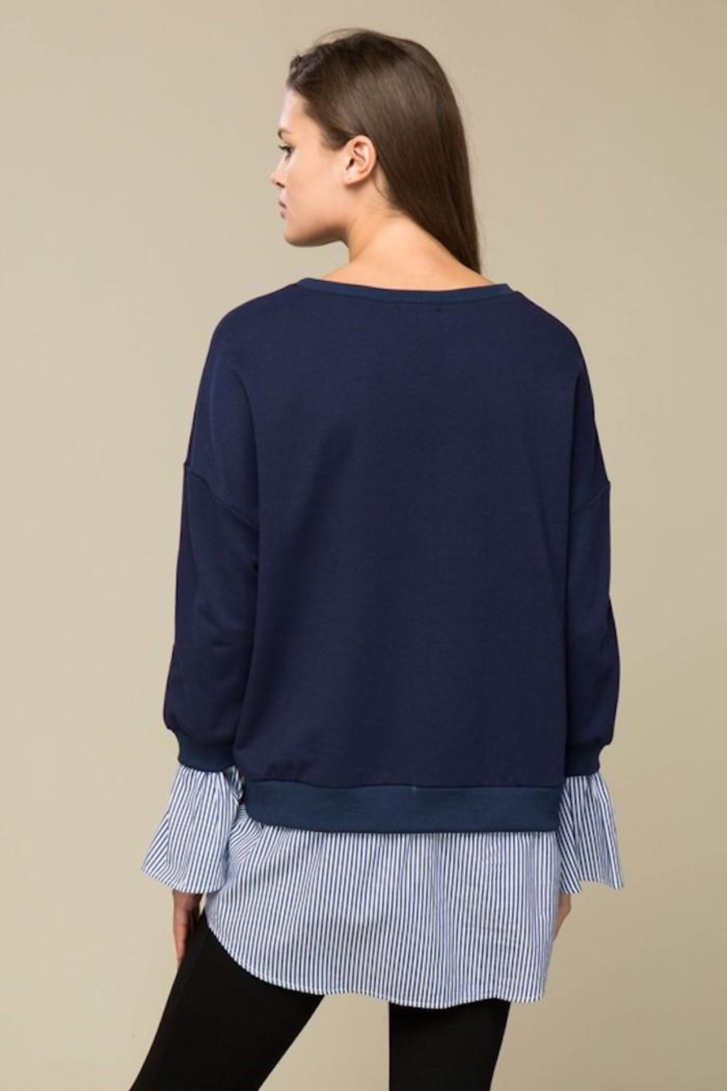 Lumiere Contrast Sweater Shirt - Side Cropped Image