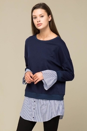 Lumiere Contrast Sweater Shirt - Front full body