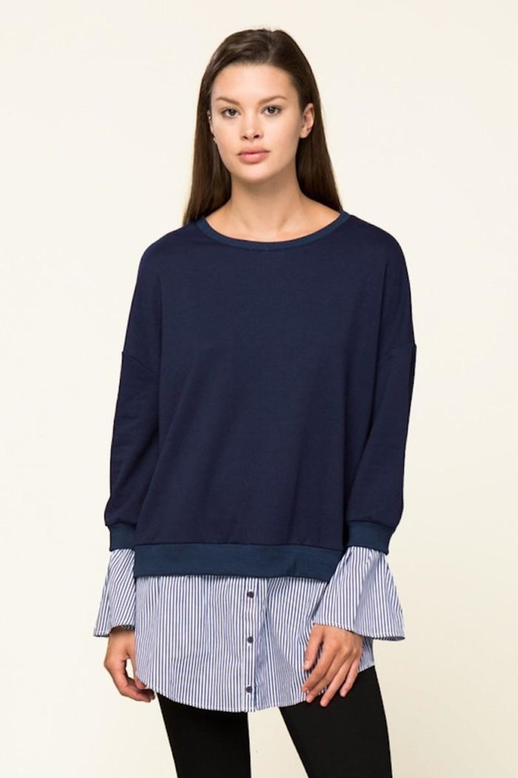 Lumiere Contrast Sweater Shirt - Main Image