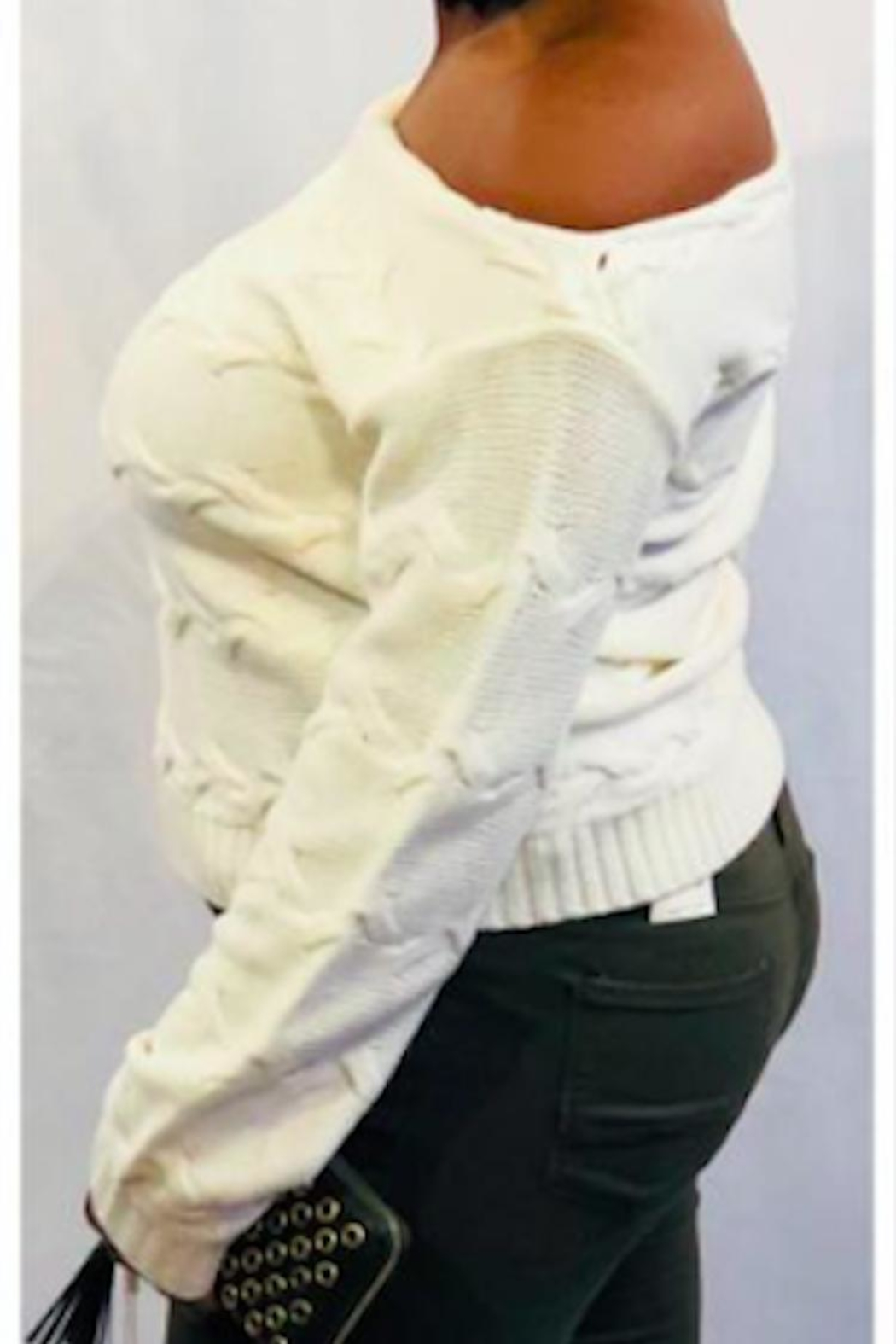 Lumiere Creamy Slouch Sweater - Front Full Image