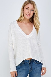 Lumiere Deep v-Neck Top - Product Mini Image