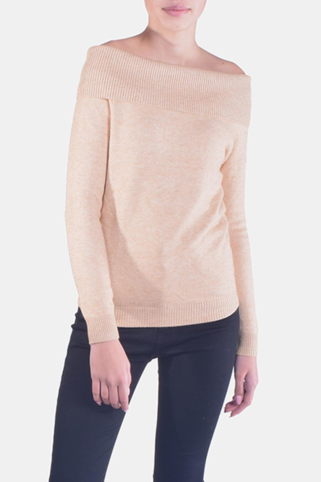 Lumiere Delicate Off-The-Sholder Sweater - Front Full Image