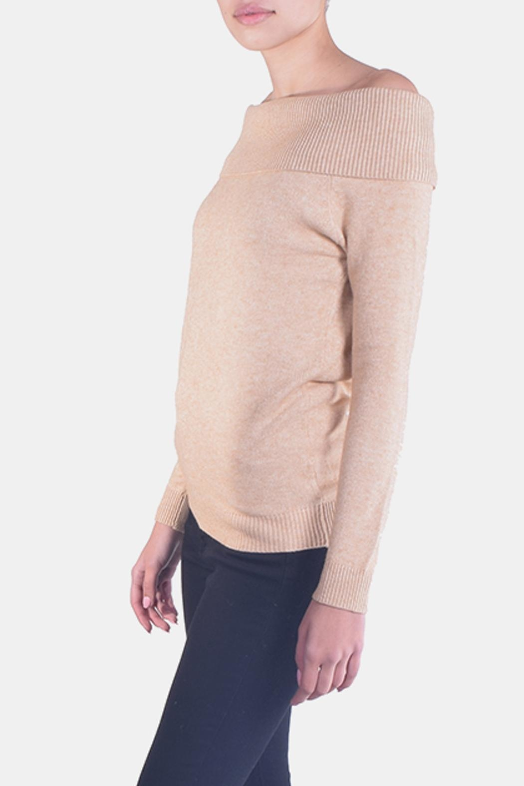 Lumiere Delicate Off-The-Sholder Sweater - Side Cropped Image